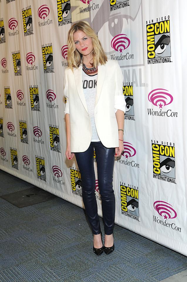 "Brooklyn Decker attends the ""Battleship"" conference at WonderCon 2012 -  Day 1 at Anaheim Convention Center on March 17, 2012 in Anaheim,  California."