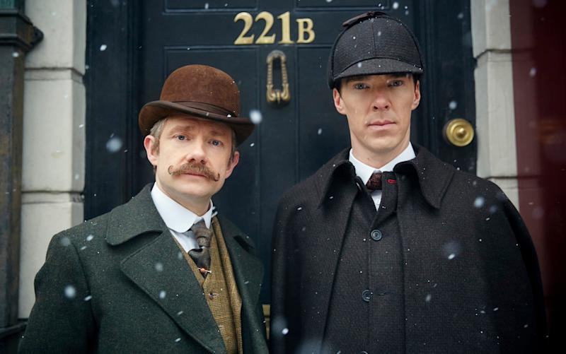 A scene from BBC One's Sherlock - BBC