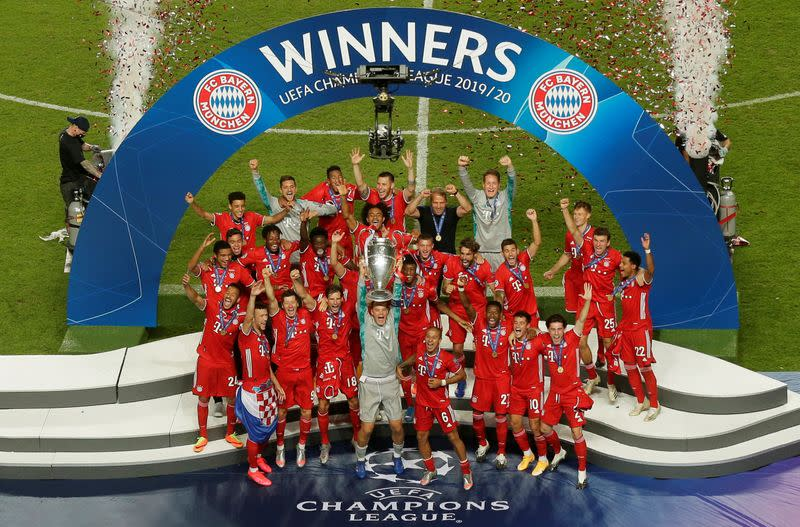 Soccer: Steely Bayern edge PSG to claim Champions League crown