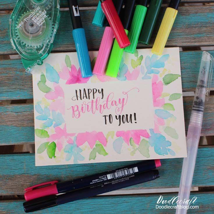"""<p>All you need are some markers, watercolor paper, and pretty penmanship for this adorable birthday keepsake.</p><p><strong>Get the tutorial at </strong><strong><a href=""""https://www.doodlecraftblog.com/2018/12/watercolor-hand-lettering-birthday.html"""" rel=""""nofollow noopener"""" target=""""_blank"""" data-ylk=""""slk:DoodleCraft"""" class=""""link rapid-noclick-resp"""">DoodleCraft</a>. </strong></p>"""