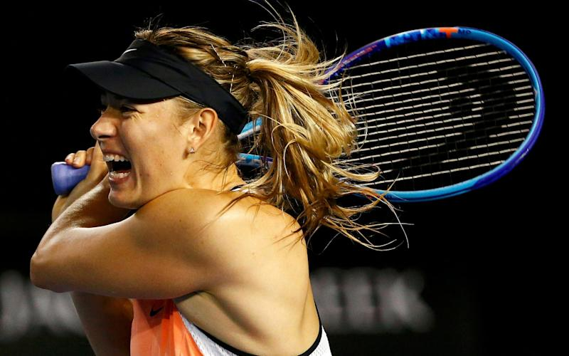 Sharapova in action - Credit: Reuters