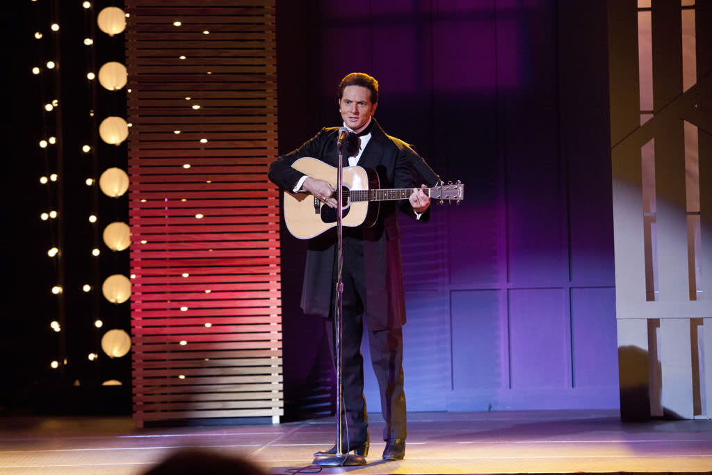 "Matt Ross as Johnny Cash in the Lifetime Original Movie, ""Ring of Fire."""