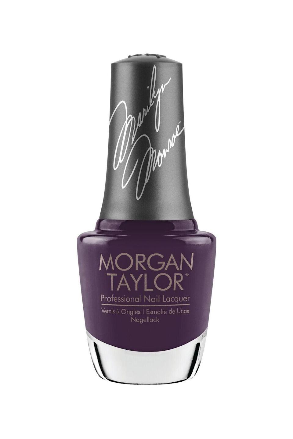 """<p><strong>Morgan Taylor</strong></p><p>ulta.com</p><p><strong>$9.50</strong></p><p><a href=""""https://go.redirectingat.com?id=74968X1596630&url=https%3A%2F%2Fwww.ulta.com%2Fforever-marilyn-nail-lacquer-collection%3FproductId%3Dpimprod2008248&sref=https%3A%2F%2Fwww.marieclaire.com%2Fbeauty%2Fnews%2Fg3310%2Fbest-nail-colors-winter%2F"""" rel=""""nofollow noopener"""" target=""""_blank"""" data-ylk=""""slk:SHOP IT"""" class=""""link rapid-noclick-resp"""">SHOP IT</a></p><p>Love eggplants? Meet your favorite vegetable in nail form. Sadly, you can't eat it—but you can wear the hell out of it. It's an opaque eggplant hue with subtle swirls of shimmer. </p>"""