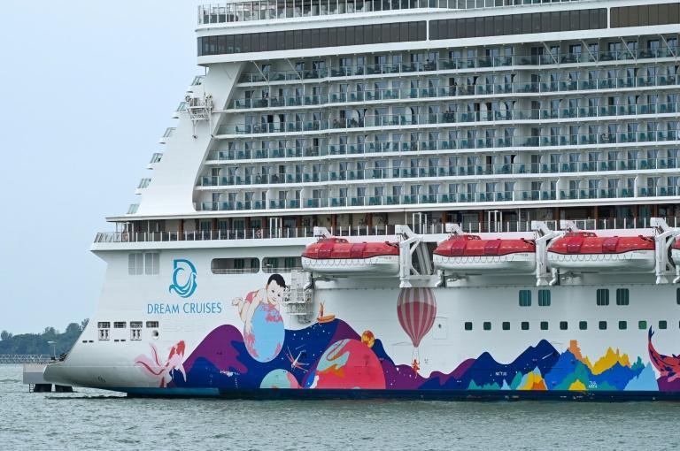 A 'cruise to nowhere' was cut short in Singapore on Wednesday after a coronavirus case was detected on board