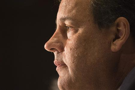 New Jersey Governor Christie is photographed during a news conference ahead of the Republican Governors Association meeting in Manhattan