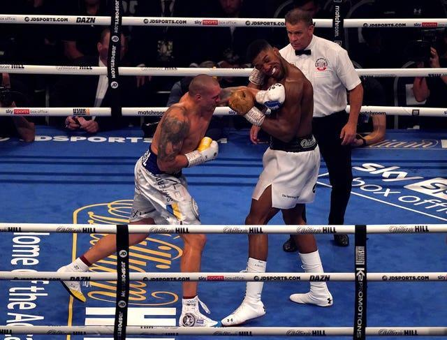 Joshua was unable to land major blows on Usyk