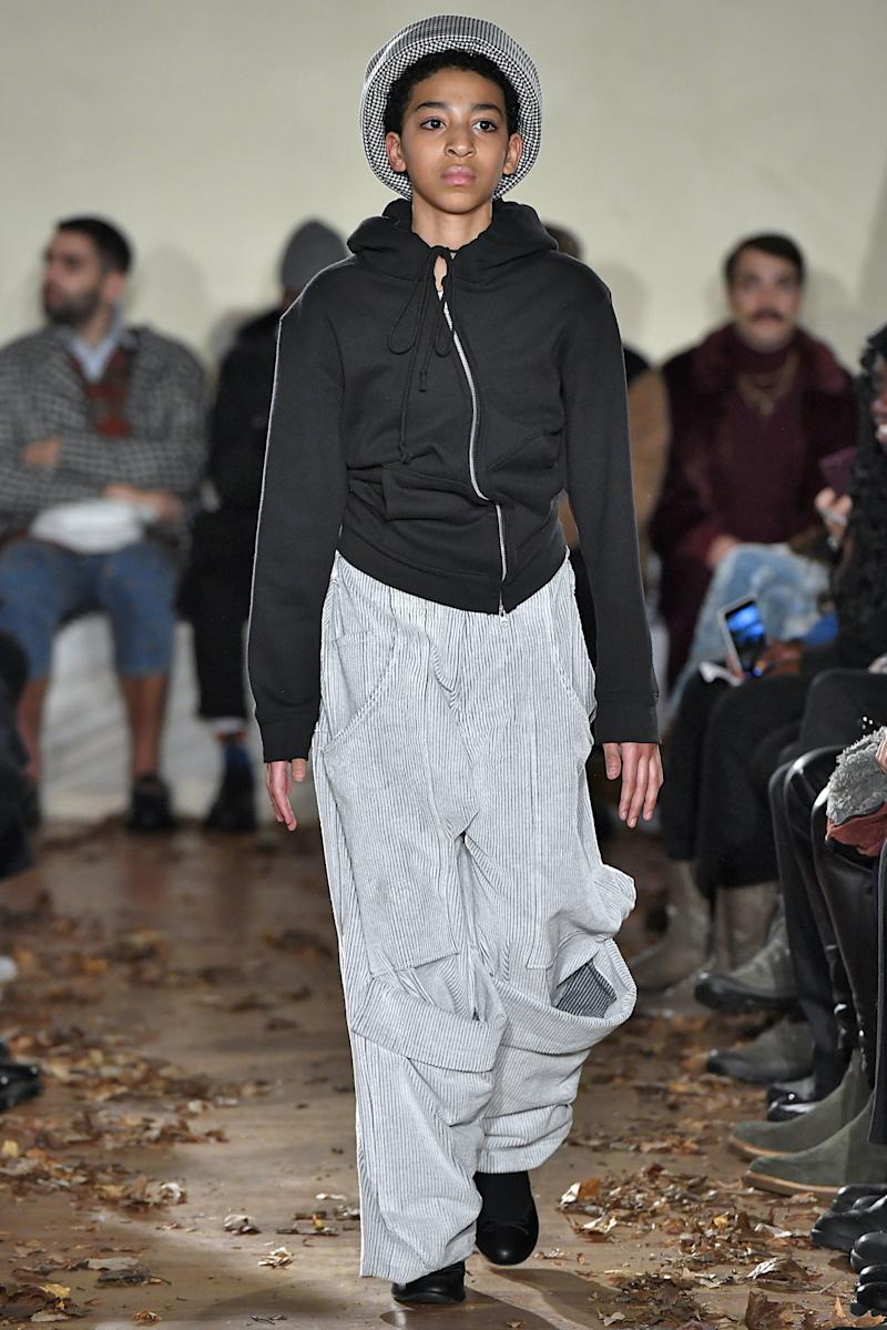 Vaquera gave a pre-teen the chance to join in on its usual models' practice of stomping down the runway at its fall/winter 2019 show during New York Fashion Week in February 2019.