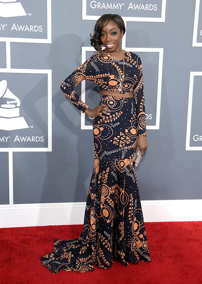 Estelle arrives at the 55th Annual Grammy Awards at the Staples Center in Los Angeles, CA on February 10, 2013.