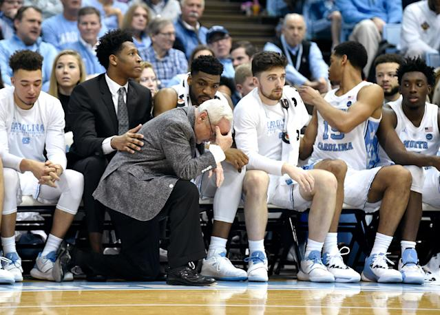 The Tar Heels suffered a bad loss and their fans were forced to watch Duke because of it. (Getty Images)