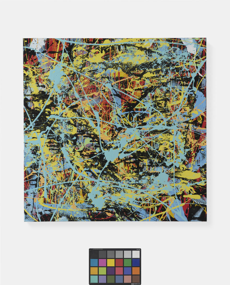 Ed Sheeran has donated his abstract painting called Splash Planet to a raffle to help the Cancer Campaign in Suffolk. (CCiS/ PA)
