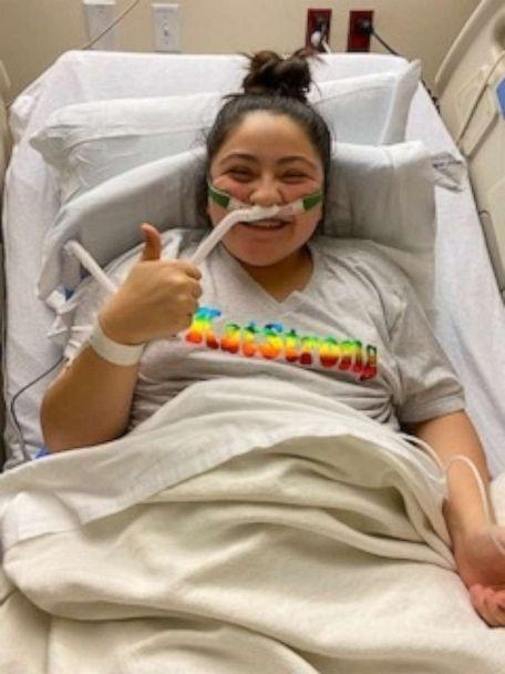 PHOTO: Christina Meredith, a resident of Kyle, Texas, told 'Good Morning America' that her 15-year-old daughter Katelynn Ramirez, is still showing symptoms of the coronavirus after being hospitalized late December. (Christina Meredith)