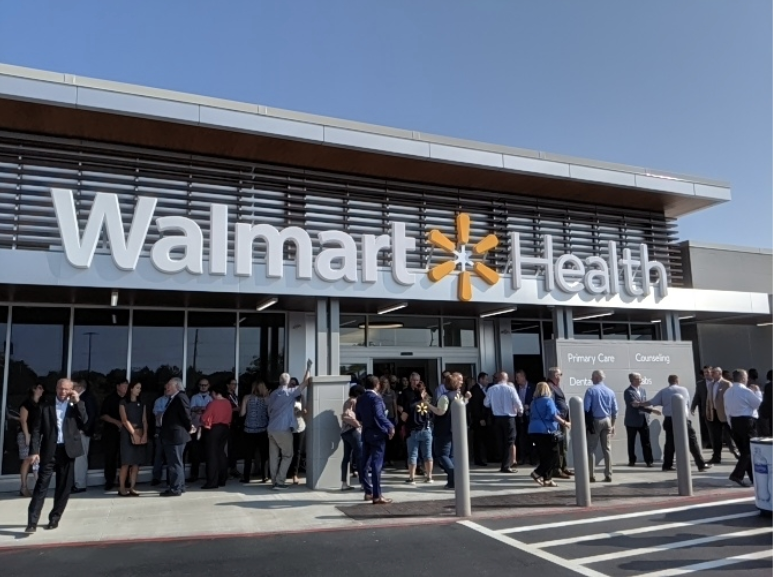 Walmart opens its first health focused store.