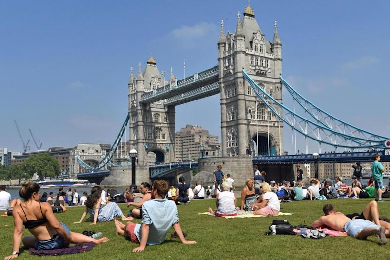 Londoners will enjoy soaring temperatures on Sunday (PA Wire/PA Images)