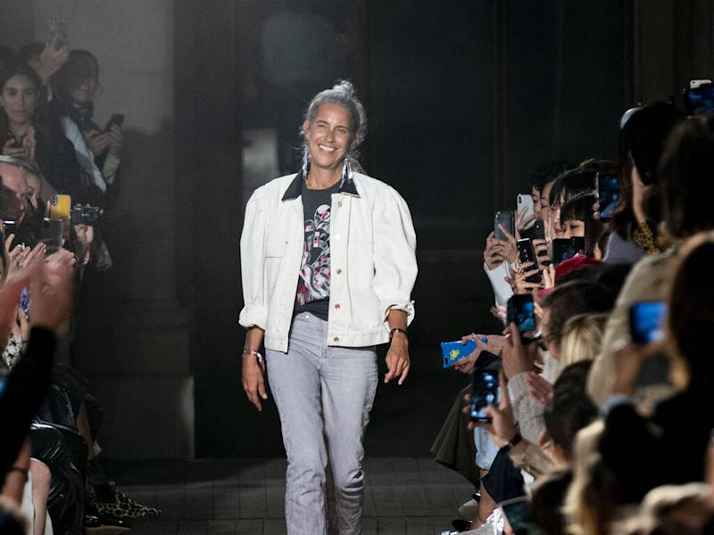 Isabel Marant tries on all her designs