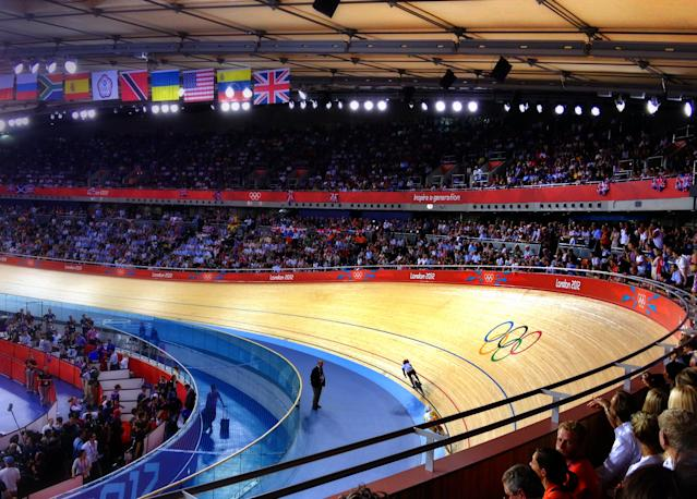 The Velodrome on day 11 of the London 2012 Olympic Games.