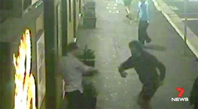 Part of the assault was captured on camera. Source: 7News