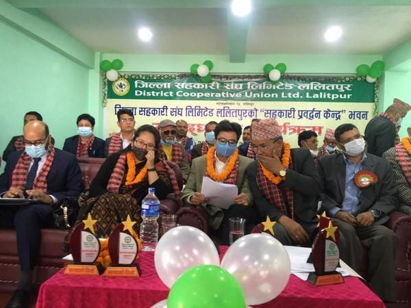 Deputy Chief of Indian Embassy inaugurates new building of Co-operative Promotion Center, Lalitpur District