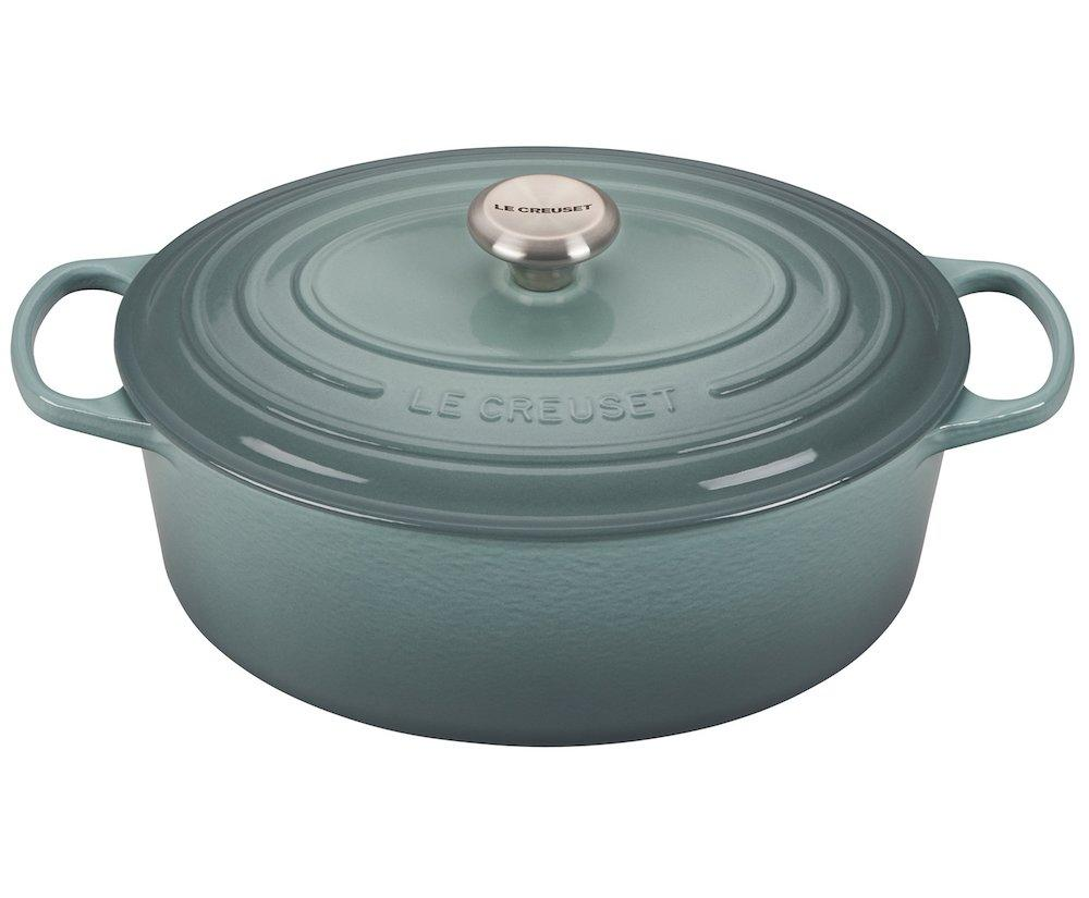 """<p>Time to upgrade your foodie's Dutch oven game with fan favorite brand Le Creuset. The enameled cast iron kitchen tool is durable and perfect for slow-cooking, braising, and roasting, and is sure to become a staple in the recipient's kitchen. Choose from multiple sizes and colors, or you can even <a href=""""https://www.lecreuset.com/round-dutch-oven"""">opt for a round shape</a> instead of oval.</p> <p><strong>To buy:</strong> From $150; <a href=""""https://www.pntra.com/t/8-9049-131940-87165?sid=RS%2CGiftsforFoodies%2Ctiadmin%2CGIF%2CGAL%2C257553%2C201910%2CI&url=http%3A%2F%2Fwww.lecreuset.com%2Foval-dutch-oven"""" target=""""_blank"""">lecreuset.com</a>.</p> <p><strong>RELATED: <a href=""""https://www.realsimple.com/food-recipes/cooking-tips-techniques/preparation/cleaning-seasoning-cast-iron-skillet"""">Cleaning and Seasoning a Cast Iron Skillet</a></strong></p>"""