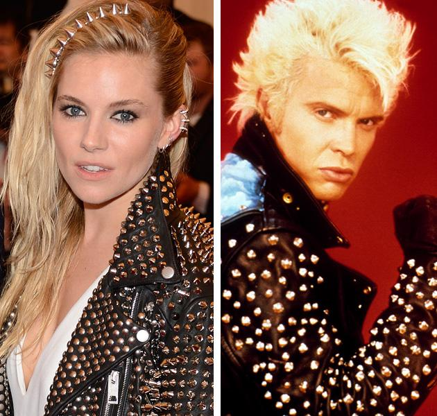 "<div class=""caption-credit""> Photo by: Getty Images</div><div class=""caption-title""></div><b>Sienna Miller vs. Billy Idol</b> <br> The British actress must have felt ""it's a nice day for a white wedding."" Or just to dress up like the ""Rebel Yell"" singer, Billy Idol, in a heavily studded leather jacket. <br>"