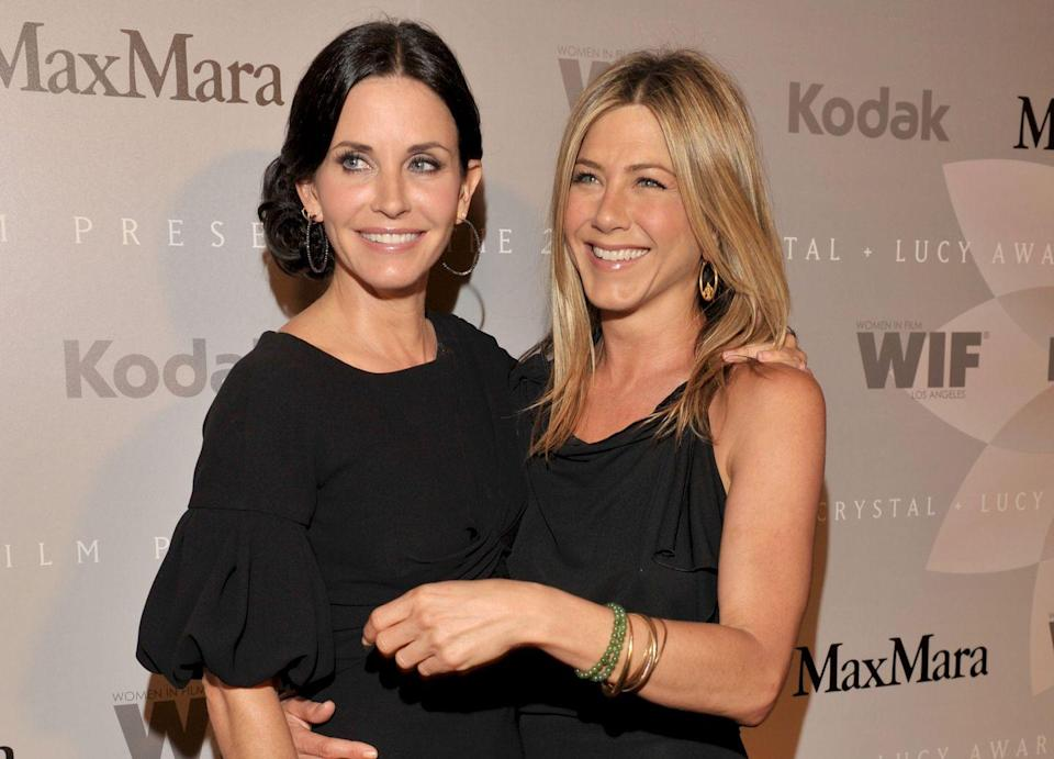 <p>Six years after the show ended, Cox and Aniston still met up when they could including for an appearance at the Crystal + Lucy awards in California. </p>