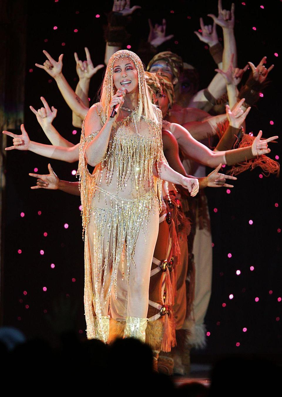 <p>Performing in London for 'The Farewell Tour' which ended up not actually being her farewell tour. </p>