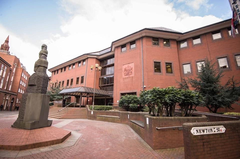 Birmingham Crown Court heard that when the victim opened the door, Helsby 'lunged forward and stabbed her in the shoulder'.