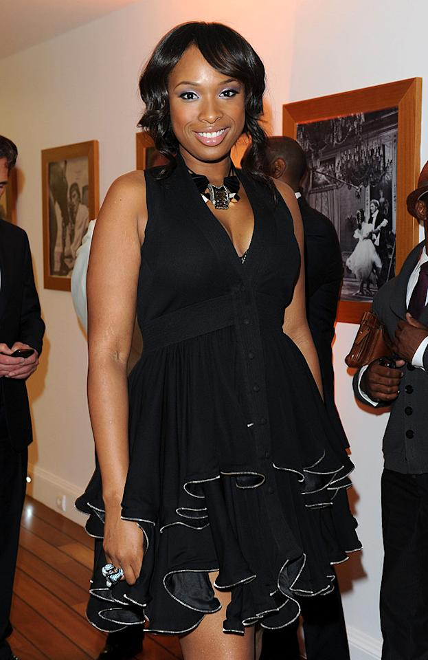 "The Weight Watcher's diet is working wonders for Jennifer Hudson, who looked fit and fab in her ruffled LBD. Venturelli/VF1/<a href=""http://www.wireimage.com"" target=""new"">WireImage.com</a> - May 15, 2010"