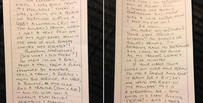 Stepdad wins the internet s heart with pun packed letter from the