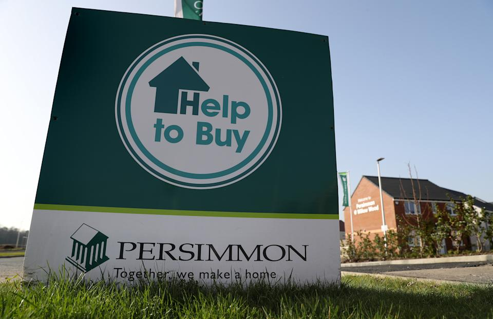 Persimmon Homes signage near Larbert after the housebuilder reported pre-tax profits surpassed £1 billion, growing 13%. (Photo by Andrew Milligan/PA Images via Getty Images)