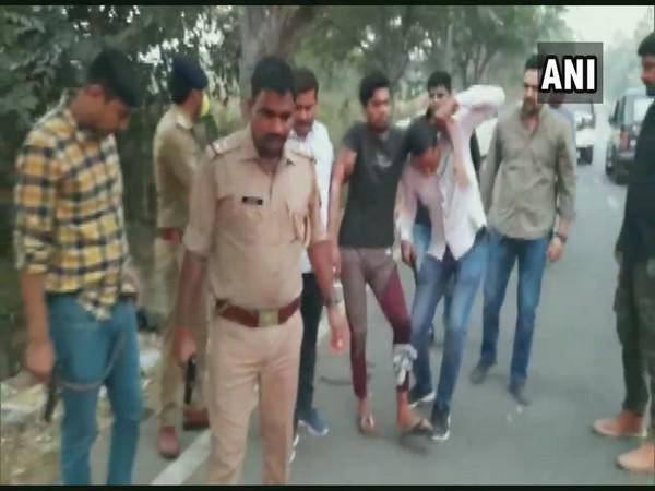 Noida police arrest five people after an encounter on Tuesday. (Photo/ANI)