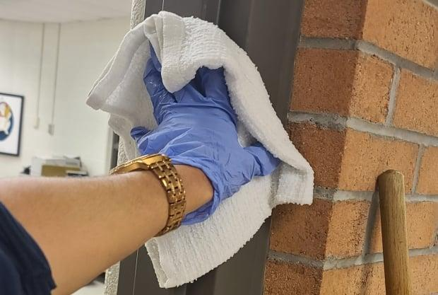 Janitors 'are sanitizing the spaces where the illness might exist' and should be considered essential workers, according to Assya Moustaqim-Barrette, spokesperson for the Service Employees International Union Local 2.