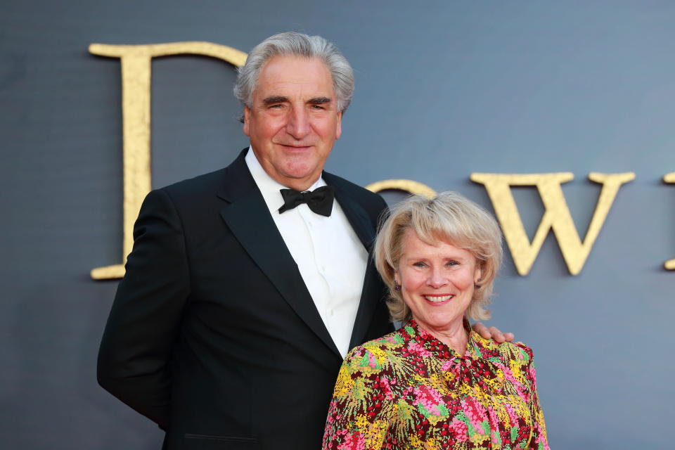 Jim Carter and Imelda Staunton arriving for the Downton Abbey World Premiere. (Credit: Jamy / Barcroft Media via Getty Images)