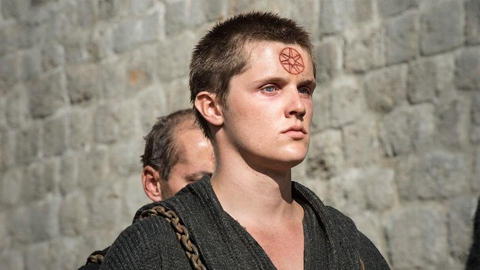 """<p>Lancel Lannister might be one of the more hated characters in the <em>Game of Thrones</em> universe, but he makes for a super simple costume. Just grab a dark grey robe and draw the mark of the Faith Militant on your forehead in red.</p><p><a class=""""link rapid-noclick-resp"""" href=""""https://www.amazon.com/TUNIC-Hooded-Knight-Cosplay-Costume/dp/B01N8PQVRJ/?tag=syn-yahoo-20&ascsubtag=%5Bartid%7C10070.g.28762544%5Bsrc%7Cyahoo-us"""" rel=""""nofollow noopener"""" target=""""_blank"""" data-ylk=""""slk:SHOP GRAY ROBE"""">SHOP GRAY ROBE</a> </p>"""