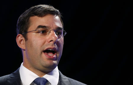 U.S. Rep. Justin Amash (R-MI) speaks at the Liberty Political Action Conference (LPAC) in Chantilly, Virginia September 19, 2013. REUTERS/Kevin Lamarque