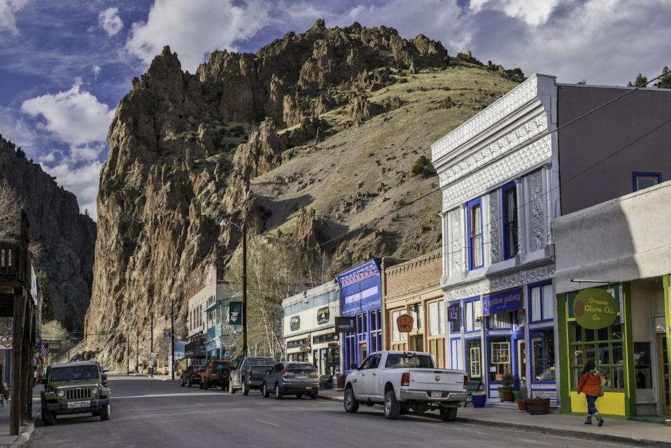 """<p><a href=""""https://www.tripadvisor.com/Tourism-g33376-Creede_Colorado-Vacations.html"""" rel=""""nofollow noopener"""" target=""""_blank"""" data-ylk=""""slk:This historic mining town"""" class=""""link rapid-noclick-resp"""">This historic mining town</a> is like walking into an old western movie. In fact, Johnny Depp shot scenes here for the action western <em>Lone Ranger. </em>The downtown shops and surrounding nature adventures allow you to enjoy a trip that's as busy or quiet as you'd like.</p>"""