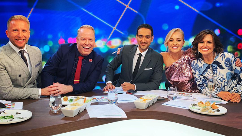 Here is the cast of Channel Ten's The Project, Hamish Macdonald, Peter Helliar, Waleed Aly, Carrie Bickmore and Lisa Wilkinson.