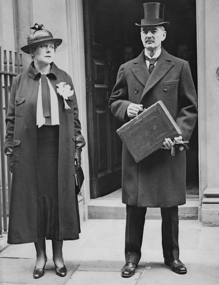 Neville Chamberlain credited Anne for much of his political success due to her continued support ever since he was elected to the Birmingham City Council in 1911. <em>[Photo: Getty]</em>
