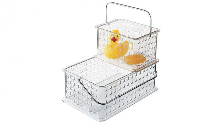 iDesign Clear Grid Totes