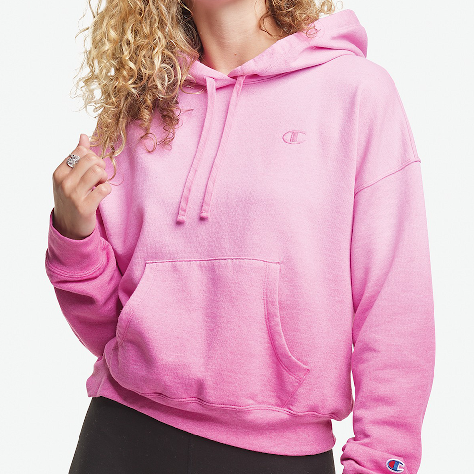 """<p><strong>Champion</strong></p><p>macys.com</p><p><strong>$55.00</strong></p><p><a href=""""https://go.redirectingat.com?id=74968X1596630&url=https%3A%2F%2Fwww.macys.com%2Fshop%2Fproduct%2Fchampion-womens-cropped-ombrehoodie%3FID%3D11260416&sref=https%3A%2F%2Fwww.elle.com%2Ffashion%2Fshopping%2Fg36181775%2Fbest-athleisure-wear-brands%2F"""" rel=""""nofollow noopener"""" target=""""_blank"""" data-ylk=""""slk:Shop Now"""" class=""""link rapid-noclick-resp"""">Shop Now</a></p><p>Nothing beats the secure feeling of wearing an OG Champion hoodie. Yes, it's athleisurewear, but yes you should break it out for all occasions. </p><p><em>Style Pictured Available in XS to XXL</em></p>"""