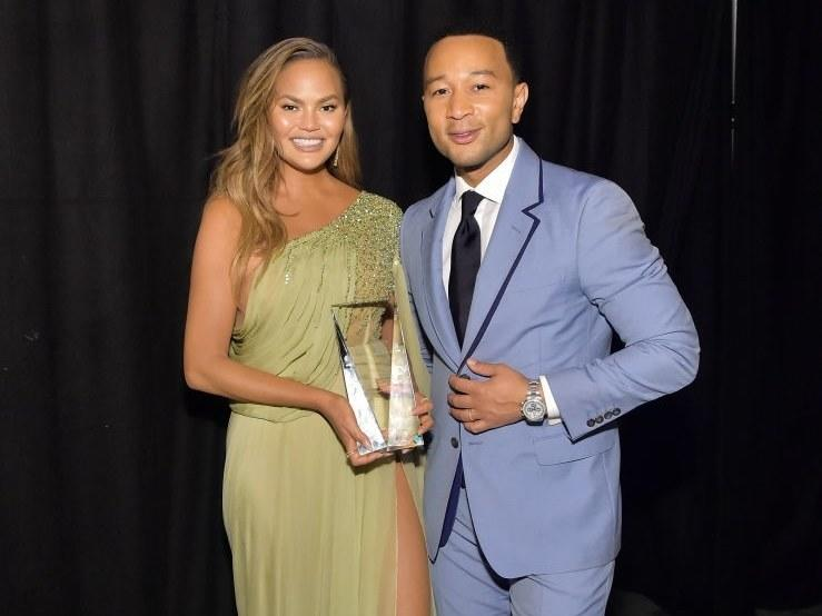 Chrissy Teigen Trolls John Legend by Replacing His Grammys With Her New Award