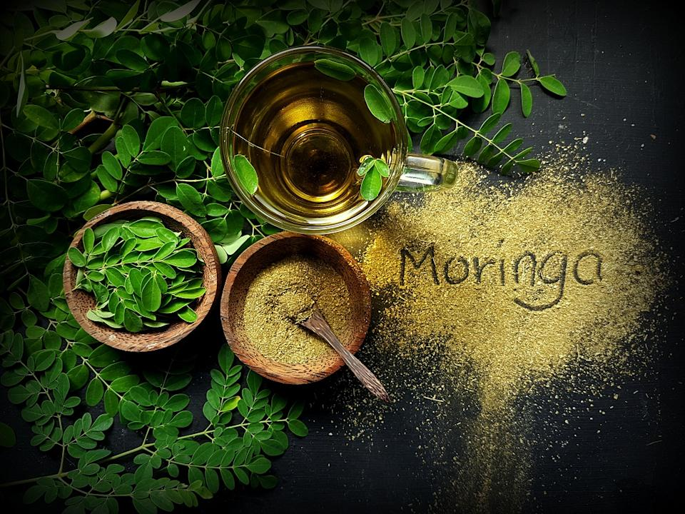 Moringa contains 92 nutrients, 46 antioxidants, 36 anti-inflammatories and18 amino acids which help your body heal and build muscle