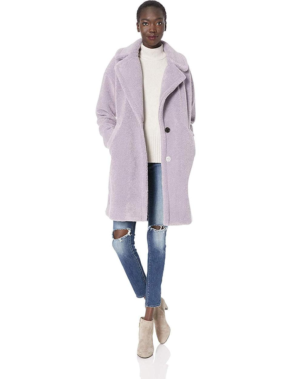 <p>We love this cozy <span>Kendall + Kylie Women's Single Breasted Coat</span> ($199) because it's a twist on the classic teddy coat.</p>