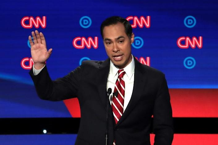 To reach Trump supporters, Democratic presidential candidate Julian Castro, seen at a July 31, 2019 debate sponsored by CNN, purchased ad time on the Fox network (AFP Photo/SCOTT OLSON)