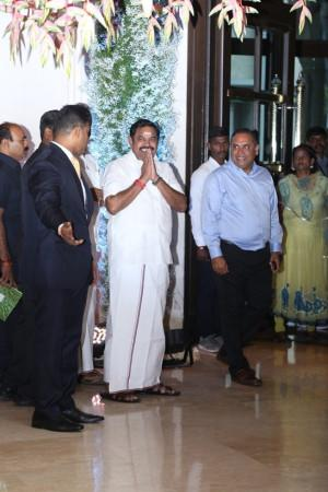 tamil nadu chief miniter at soundarya rajinikanth Vishagan Vanangamudi's wedding