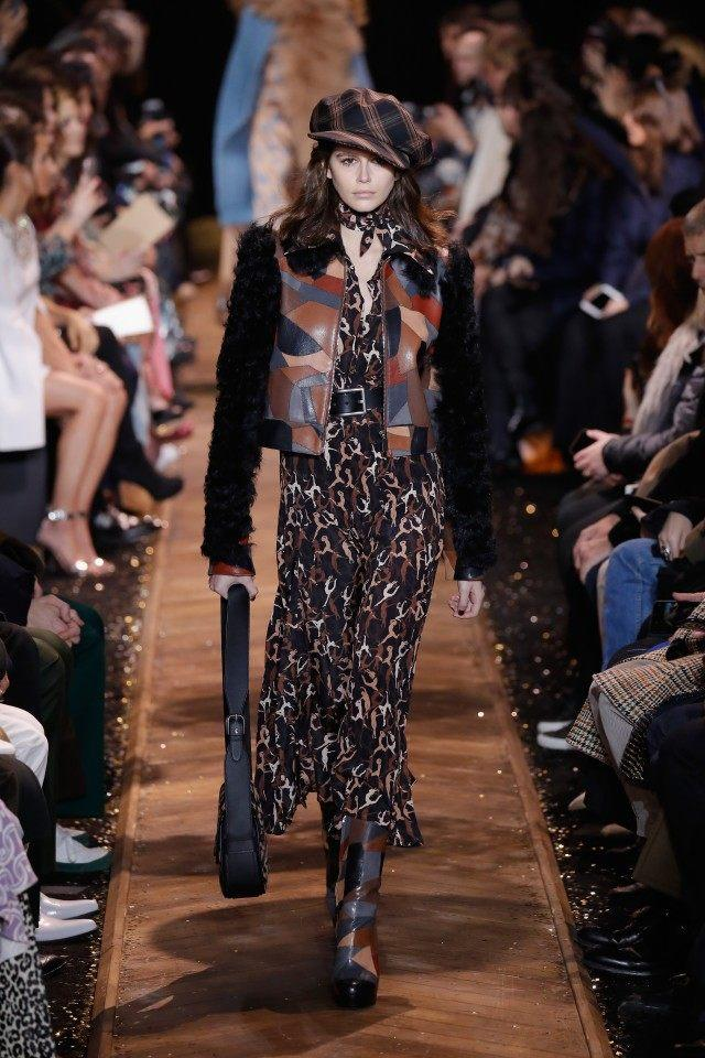 Kaia Gerber on Michael Kors runway
