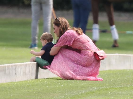 The Duchess of Cambridge with Prince Louis (Andrew Matthews/PA Wire)
