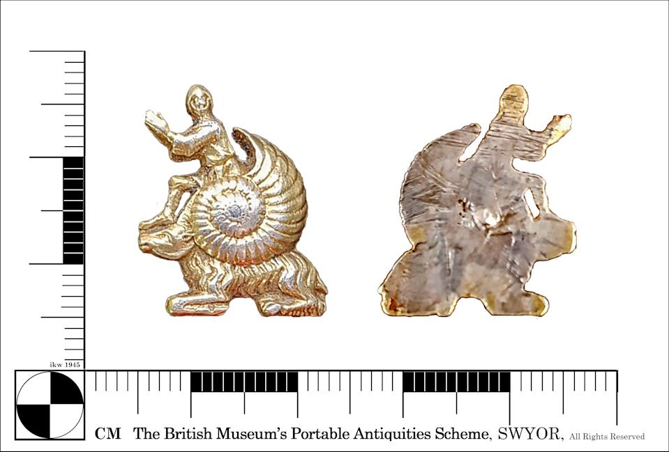 The discovery was announced by the British Museum (Yorkshire Archaeology Advisory Service/PA)