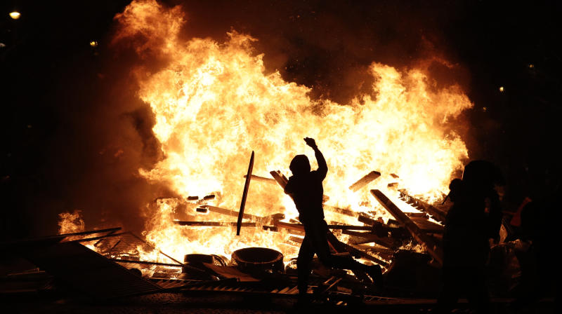 PARIS (AP) -- French police fired tear gas and water cannons to disperse
