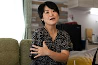 Manami Ito lost her arm in a motorcycle accident at the age of 20 (AFP/Yuki IWAMURA)