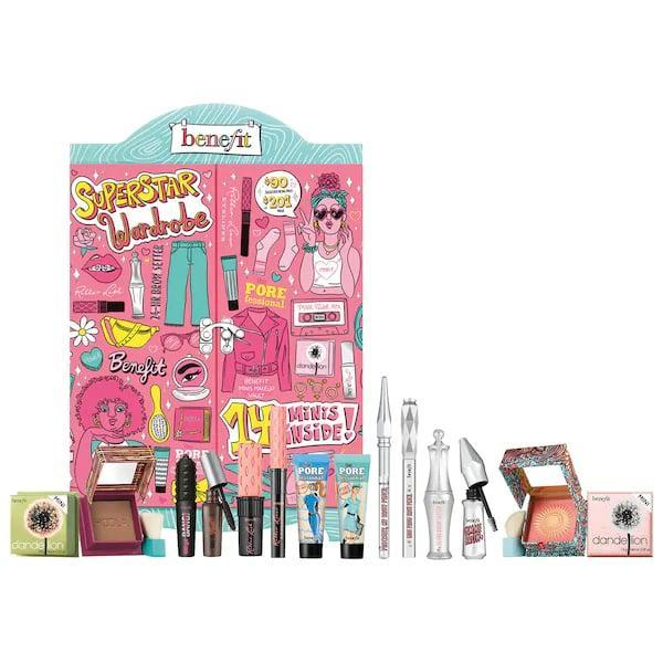 <p>Go back-to-school (in spirit) with a locker stuffed full of 14 beauty goodies for brows, cheeks, eyes, and lashes, thanks to this <span>Benefit Cosmetics Mini Superstar Wardrobe Makeup Value Set</span> ($90).</p>